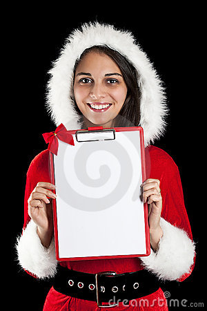 Woman in santa wear