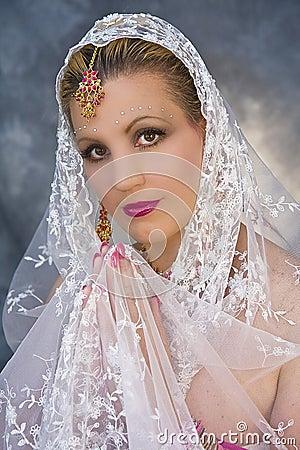 Woman in Saree Attire