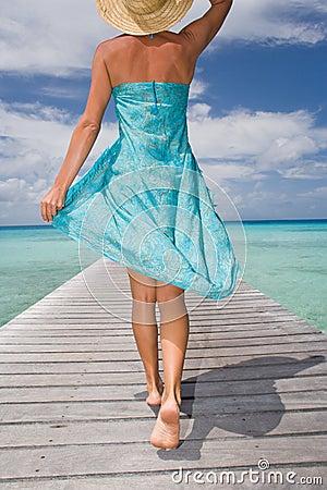 woman sarong resort