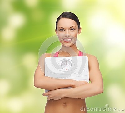 Woman with scale