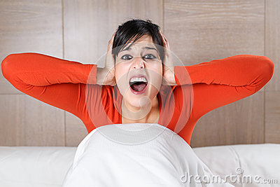 Woman screaming night
