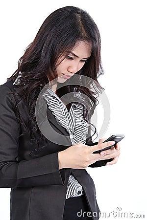 Woman search phone