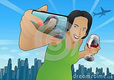 Woman self portrait