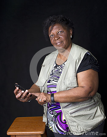 Woman senior African Brazilian