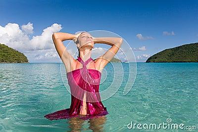 Woman sensual beach
