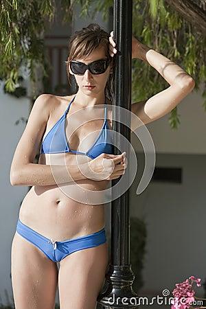 Woman in sexy bikinis