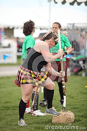 Woman Sheath Toss Editorial Photo