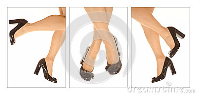 Woman shoes and legs