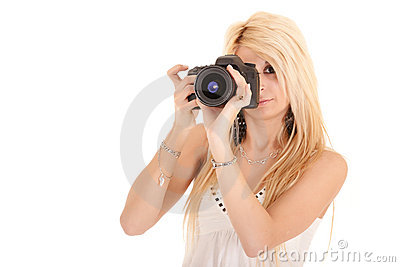 Woman shooting picture