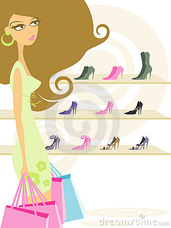 Woman In Shopping Royalty Free Stock Photos - Image: 3190818