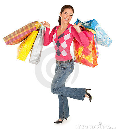 Woman on a Shopping Spree
