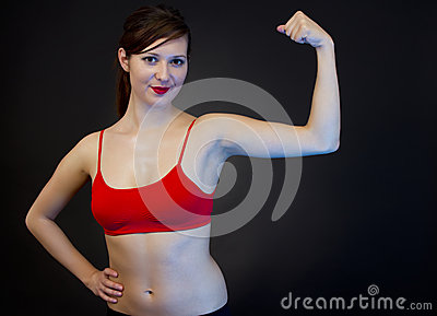 Woman showing her arms