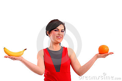 Woman shows us her fruit diet