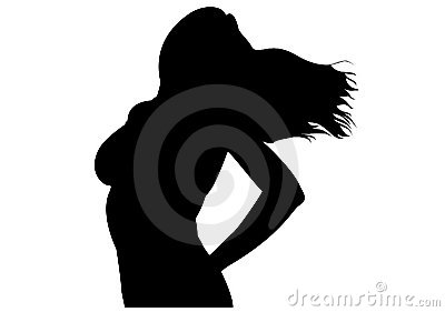 Woman silhouette vector