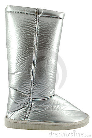 Woman silver boot