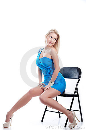 woman sit on a chair