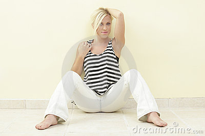 Woman in a sitting pose