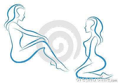 Woman sketch,