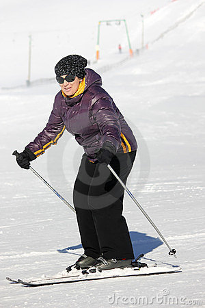 Woman on the ski