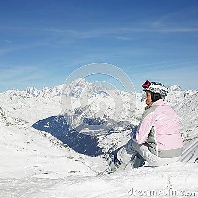 Free Woman Skier Stock Photo - 18782060