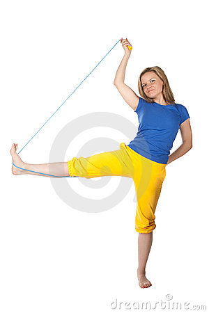 Woman with skipping-rope