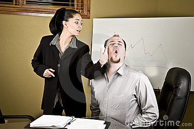Boss Big Hand Slap On Employee Stock Vector 492269065 ... |Hand Slapping Workers