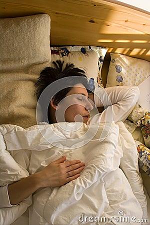 Woman in the sleep