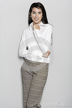Woman in smart business suit