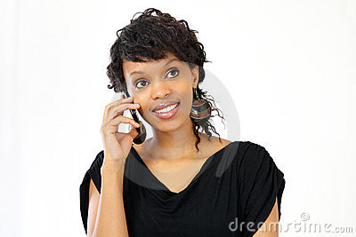 Woman on smart phone