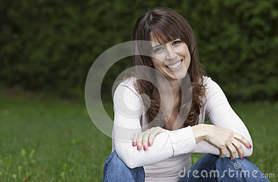 Woman smiling at the camera