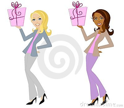 Woman Smiling Holding Gifts