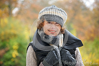 Woman Smiling in the Park
