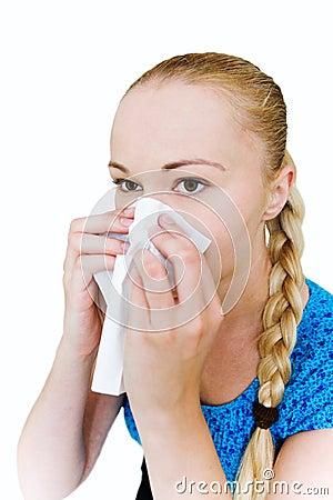 Free Woman Sneeze Stock Photo - 10301780