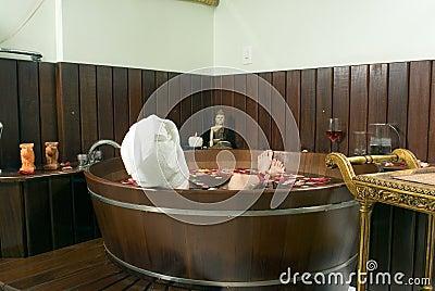 Woman Soaking in Tub - Horizontal