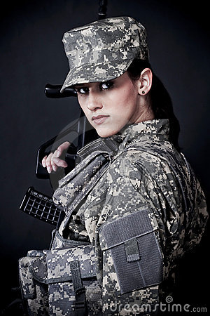 Free Woman Soldier Stock Image - 10861001
