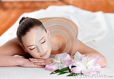Woman  in spa beauty salon