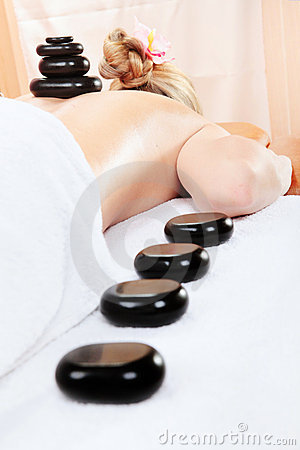Woman in spa having massage
