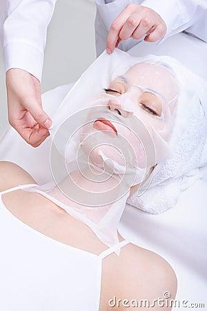 Woman in the spa salon