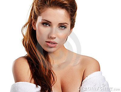 Woman before spa treatment