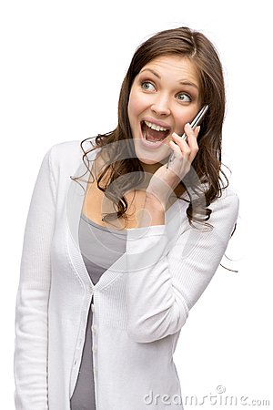 Woman speaking on cell phone