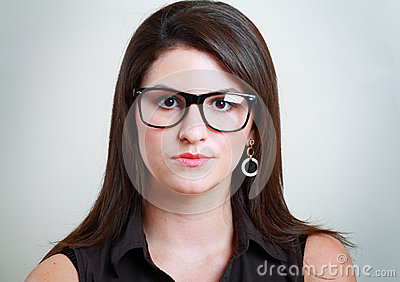 Woman in spectacles
