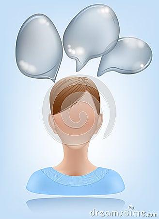 Woman speech icon