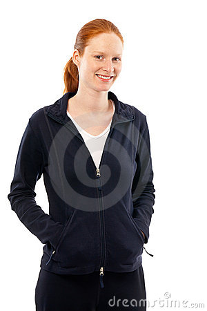 Woman in Sport Clothing