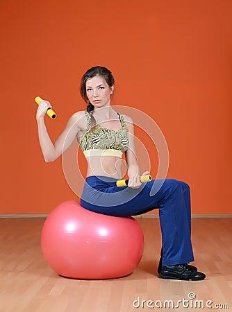 Woman in sports club