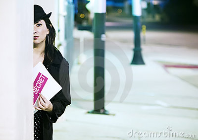 Woman Spy with Document