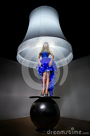 Free Woman - Standard Lamp Royalty Free Stock Image - 31347926