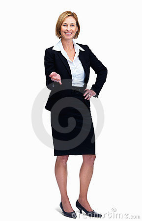 Woman standing isolated over white backgrou