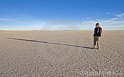 Woman standing on Salt Flats