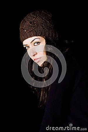 Woman staring atcamera