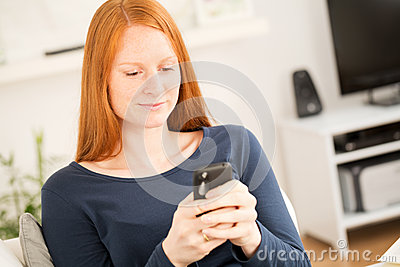 Woman Staying Connected with a Mobile Phone